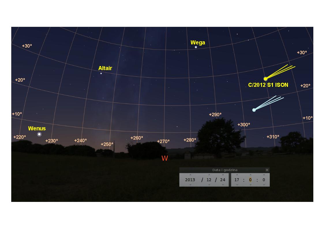 Niebo na zachodzie, 24 grudnia 2013, około 17:00